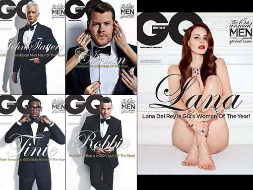 Vergleich des GQ-Magazine: Allesamt wurden zu Personen des Jahres gewählt, Lana del Rey ist als einzige nackt