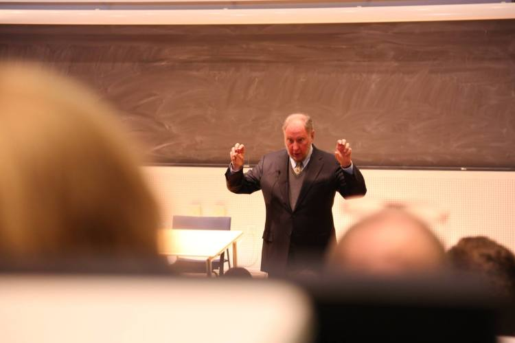 Harvard Professor Robert Putnam during his lecture at Roskilde University, December 11th 2014 Photo: IPAP International Public Administration and Politics, RUC
