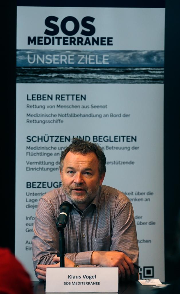 Klaus Vogel, Gründer von SOS Mediterranee © Patrick Bar